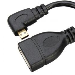 10cm Vänster Angle HDMI Hona till Mirco HDMI Hane Kabelhållare 1080P