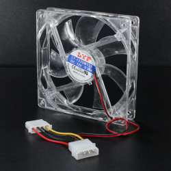 120mm LED Blue Chassis Crystal Case Fan For PC Host CPU Cooling 4 Pins