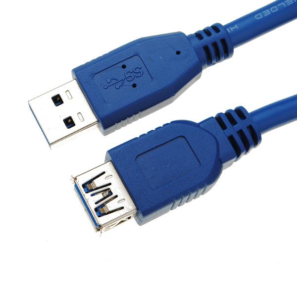 1.5M USB 3.0 Han Plug til Hun Jack MF Forlængerkabel Leads Cord Computer Komponenter