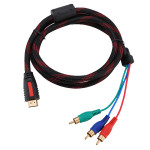 1.5m 5ft HDMI to 3-RCA Male Audio Video Convert Cable For HDTV 1080P Computer Components