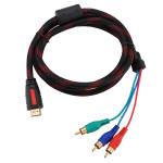 1.5m 5ft HDMI bis 3 Cinch Stecker Audio Video Convert Kabel für HDTV 1080P Computer Komponenten