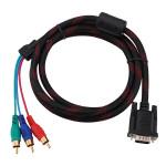 1.5m 5ft VGA bis 3 Cinch Stecker Audio Video AV Kabel Componet Computer Komponenten
