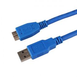1.5m USB 3.0 Typ A Hane till Micro B Förlängningskabel för Data