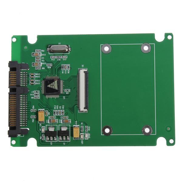 1,8 ZIF / LIF HDD Hard Disk Drive SSD til 7 + 15 22 Pin SATA Adapter