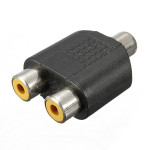 1 RCA Female to 2 RCA Female AV Audio Video Adapter Computer Components