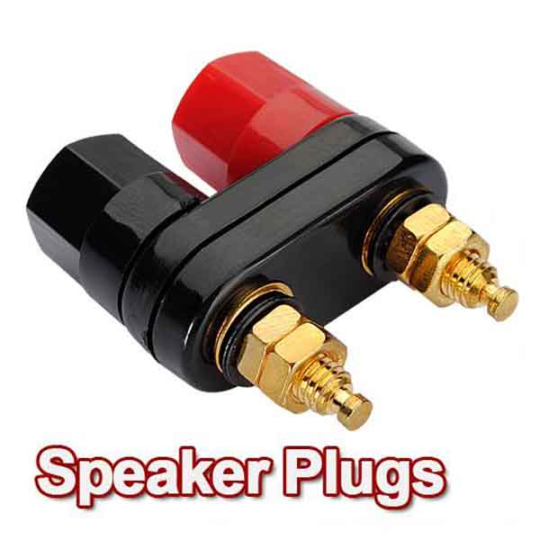 1 pair Amplifier Terminal Binding Post Banana Plug Jack Computer Components
