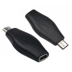 USB 2.0 Mini A 5 Pin Stecker auf Micro B männlich weiblichen Adapter Konverter