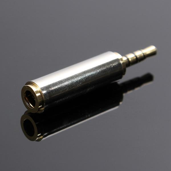 2.5mm Hane till 3.5mm Hona Stereohörlurar Mic Audio Jack Adapter Datorkomponenter