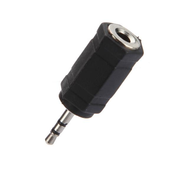 2.5mm Hane till 3.5mm Hona Stereo Audio Hörlurar Adapter Omvandlare Datorkomponenter