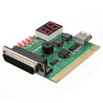 2 stellige USB PCI LPT Motherboard Diagnoseanalysator Test Karte für Laptop PC und Desktop Computer Komponenten