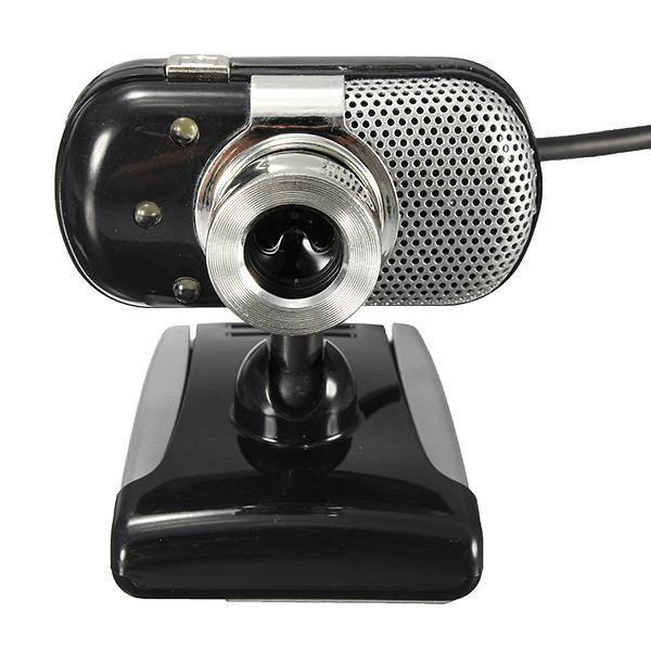 3 LED Lights USB 2.0 HD Mini Webcam with Built-in Microphone Webcams