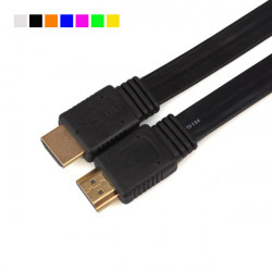 3M 14 Pin Flat HDMI Kabel Type A til Type A Support 1080P 3D HDTV