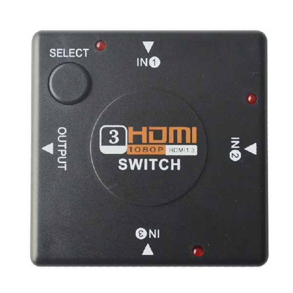 3 Port HDMI Switch Switcher Splitter för HDTV 1080p PS3 Datorkomponenter