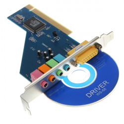 4 Channel C-Media 3D Audio Stereo PCI Sound Card Win7 32 64 Bit Vista