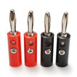 4stk Iron Pin Banana Plug Højttalere Screw Wire Kabel Stik 4mm