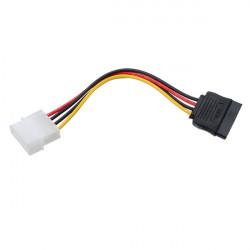 4 Pin IDE Molex to 15 Pin Serial ATA SATA Power Adapter Cable
