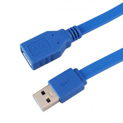 50cm USB 3.0 Type A Male to A Female Extension Flat Cable