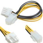 5 PCS 4-Stifts Hane till 8 Pin Hona EPS ATX Desktop Nätaggregat Kabel Adapter Datorkomponenter
