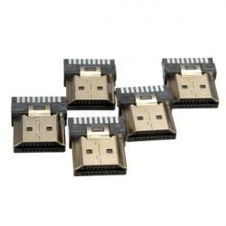 5st HDMI 19Pins Hane Avslutnings Repair Kit Guldpläterad Kontakt