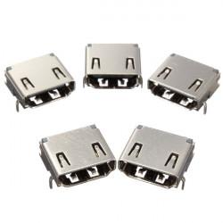 5er HDMI Buchse 90 ° DIP 3 Row 19pins Steckdose PCB Löten Steckverbinder