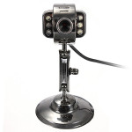 6 LED USB2.0 HD Webcam Web Cam Video Camera With Mic Night Vision Webcams