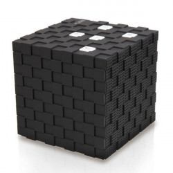 BS-12 Cube Bluetooth Rechargeable Portable Wireless Speaker with Mic
