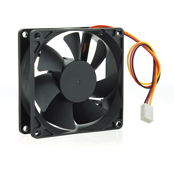 Case Fan 12V DC 50CFM PC CPU Cooling Sleeve Bearing 3 Pin 80mm 25mm Computer Components