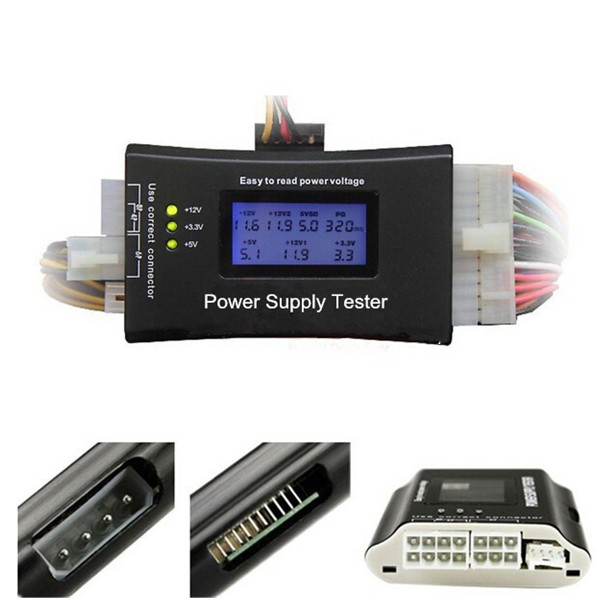 Digital LCD Power Supply Tester for PC  ATX/BTX/ITX 4Pin SATA HDD Computer Components