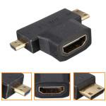 HDMI 1.4 Buchse auf Mikromann und Mini HDMI Stecker 90 Grad Adapter Computer Komponenten