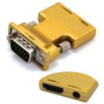 HDMI Hona till VGA Hane Adapter 1080P 3.5mm Audio Chip Chrontel 7101b Datorkomponenter