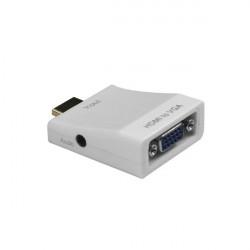 HDMI till VGA-kabel Adapter Omvandlare Support Audio 1080p Videoutgång