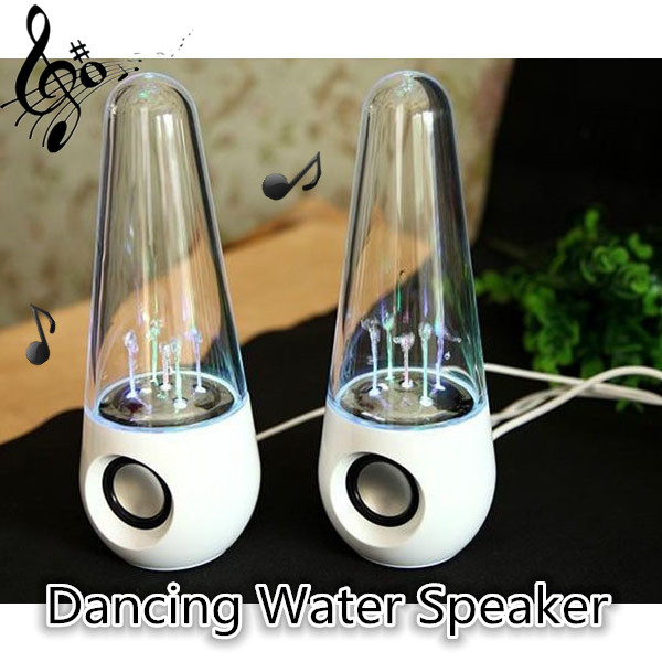 Laptop Tanzen Water Music Brunnen Licht Lautsprecher 3,5 mm Klinkenstecker Computer Lautsprecher