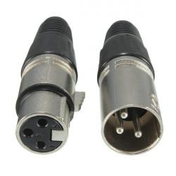 Hanlige Og Kvindelige 3-Pin XLR Mikrofon Audio Kabel Plug Stik