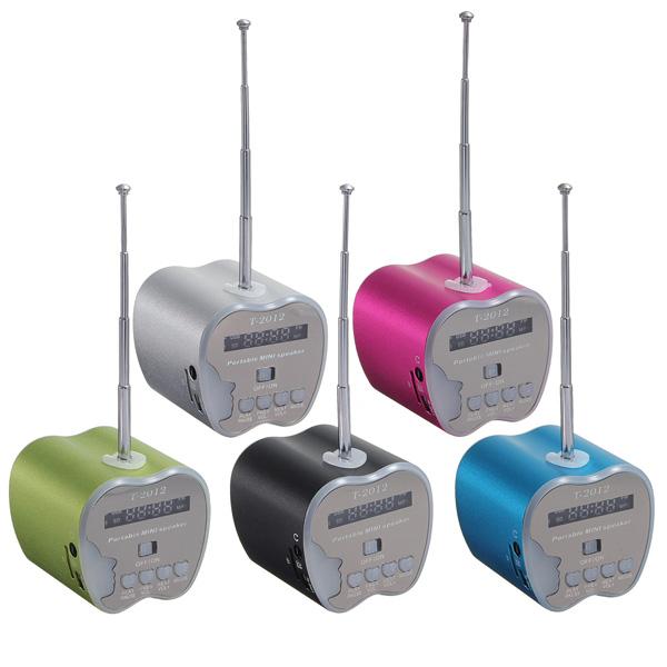 Mini Apple Shaped USB/TF Card LED FM Radio Speaker Computer Speakers