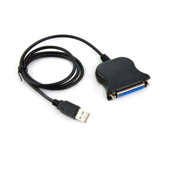 NEW USB TO 25PIN FEMALE PARALLEL PRINTER CABLE ADAPTER Computer Components