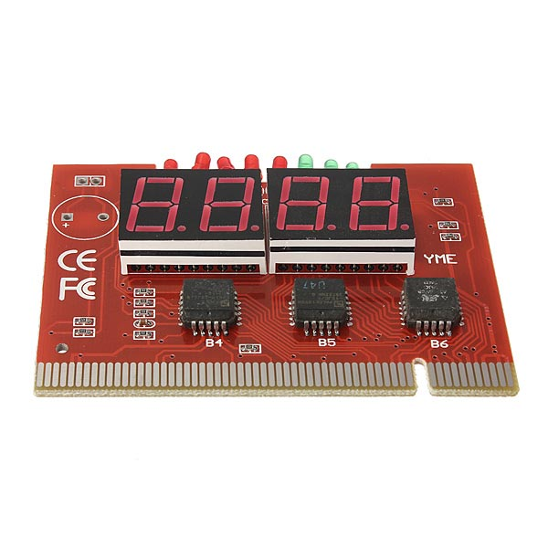 PC 4 Digit Code Diagnostic Analyzer Motherboard Tester PCI Card Computer Components