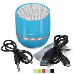 Bärbar Bluetooth NFC Stereo Mini Högtalare med LED-ljus