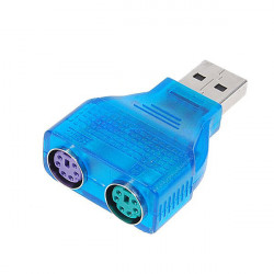 Schlank USB 2.0 zu PS / 2 Adapter Dongle