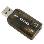 USB 2.0 External Sound Card Adapter 5.1 Channel Support 3D Sound Computer Components