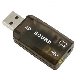 USB 2.0 Externt Ljudkort Adapter 5.1-Kanaligt Support 3D Sound
