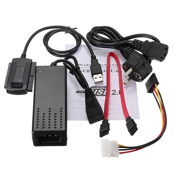 USB 2.0 zu SATA IDE Festplatte Kabel für HD HDD Adapter W Energie Computer Komponenten
