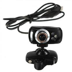 USB 30M HD Webbkamera Kamera med Mikrofon Mic 3 LED för PC Laptop