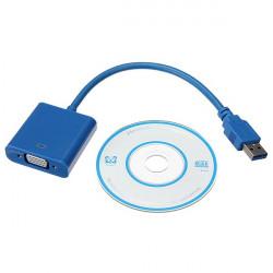 USB 3.0 auf VGA Anzeige für externe Monitore Grafik Kabel Schnur Adapter