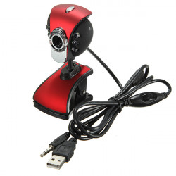 USB 50M 6 LED Night Vision Webcam Camera Web Cam With Mic PC Laptop