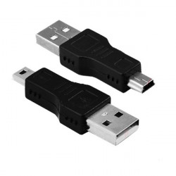 USB A Hane till Mini B Hane 5-Pin Adapter