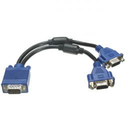 VGA Stecker auf 2 VGA Buchse Konverter Adapter Splitter Videokabel an PC TV