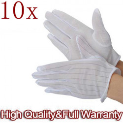 10 X ESD PC Computer Working Anti-static Anti-skid Gloves