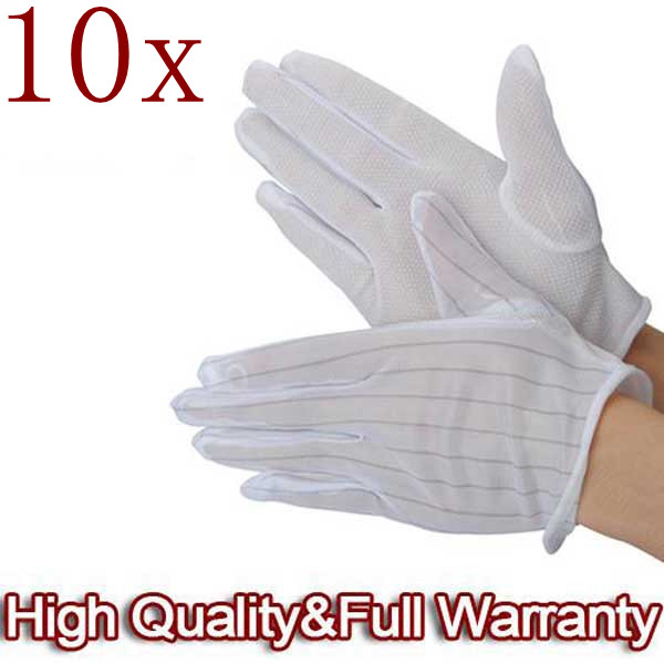 10 X ESD PC Computer Arbeitsantistatik Anti Rutsch Handschuhe Laptops & Zubehör