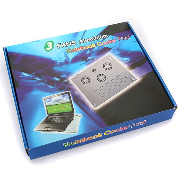 3 Blæseres USB Laptop Sort Iron Cooler Cooling Pad Passer 9 Laptop & Tilbehør