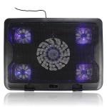 5 Fläkts LED USB Kylning Justerbar Pad för Bärbara Notebook 7-17inch Laptop Tillbehör